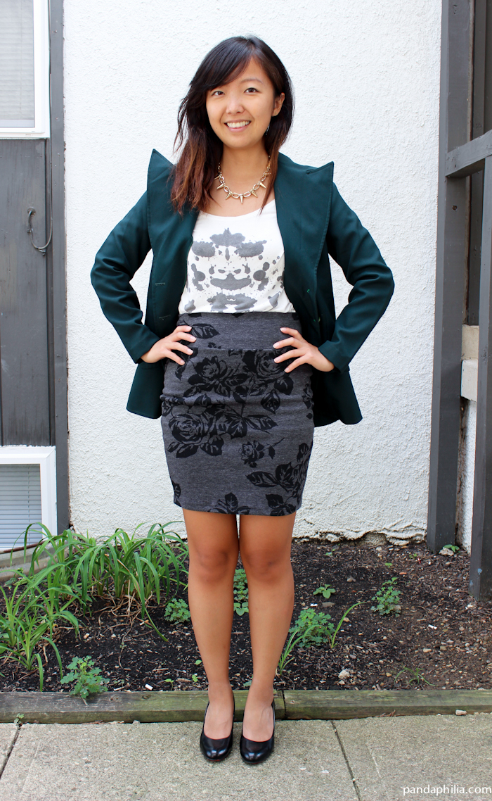 how to style a green blazer for work