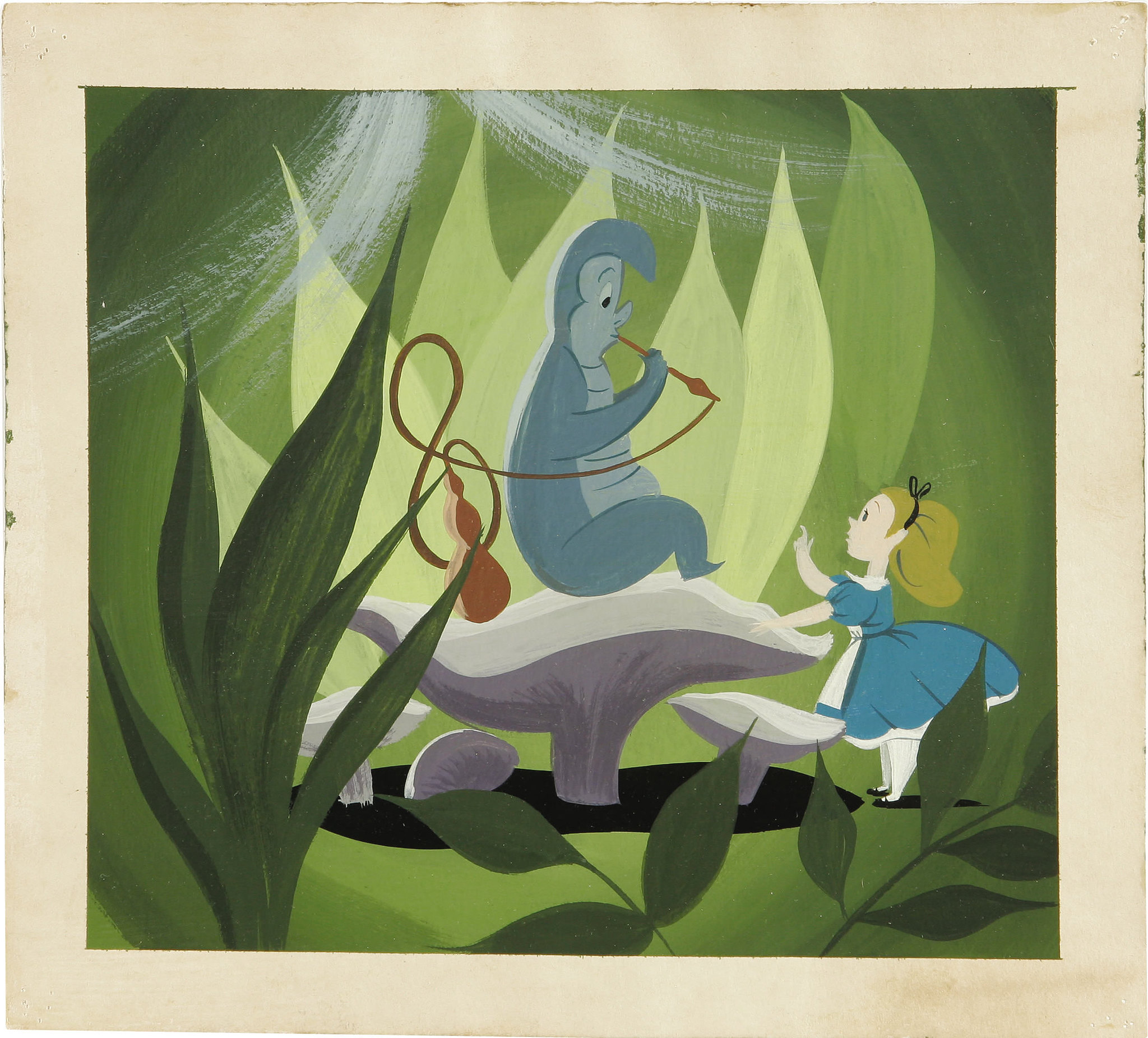 Alice in Wonderland - Mary Blair concept art - caterpillar ...