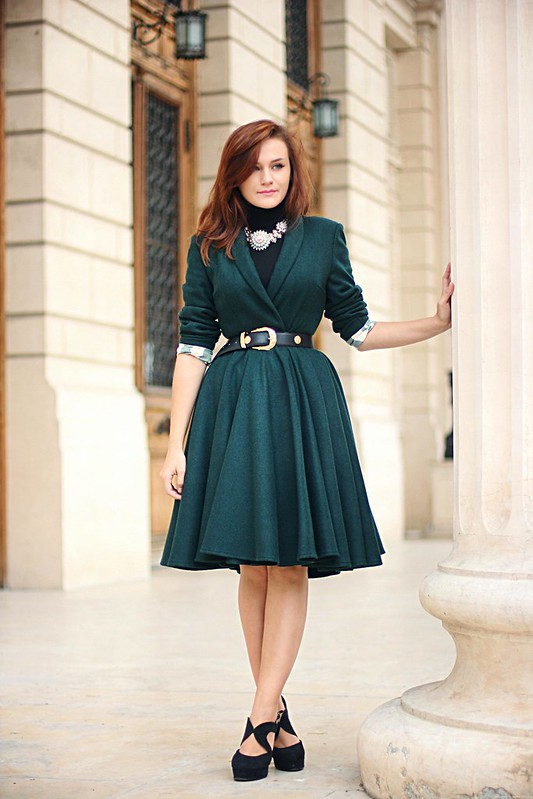 emerald green coat 6