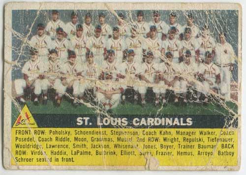 1956 Topps St. Louis Cardinals Team Card