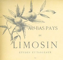 """British Library digitised image from page 11 of """"Au bas pay du Limosin. Études et tableaux"""""""
