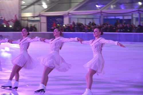 Picture Taken During The Bryant Park 2013 Christmas Tree Lighting Ceremony. Pictured Above Was A Performance By The Haydenettes, An American Senior-Level Synchronized Skating Team. The Haydenettes Practice At Both The Hayden Recreation Center] In Lexingto