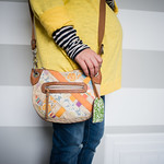 fossil floral purse