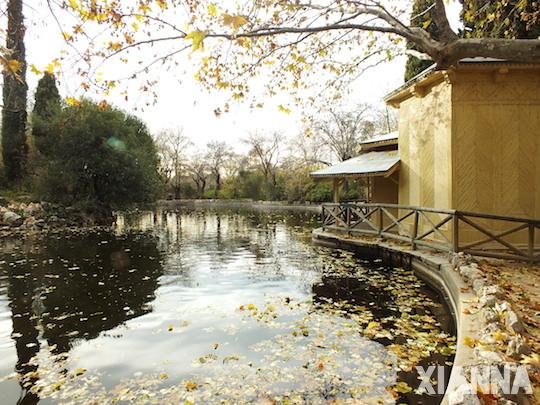 Casa de las cañas in parque del capricho, Madrid