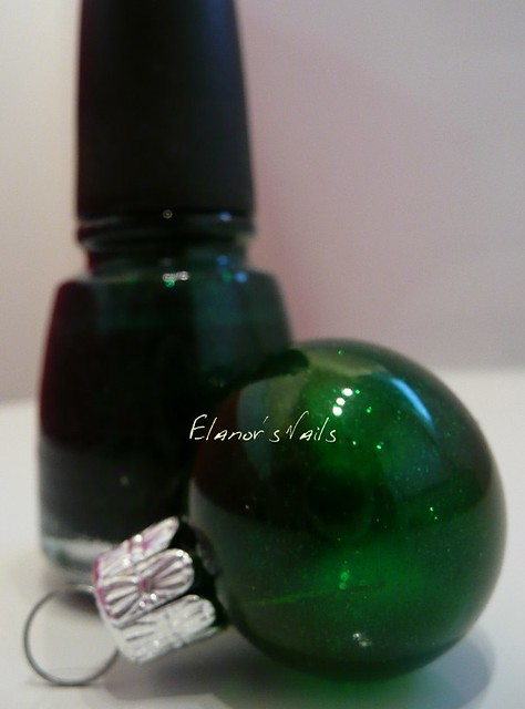 nail varnish baubles emerald sparkle
