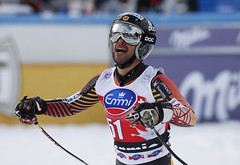 Conrad celebrates his first top 30 finish of the season in Bormio, ITA