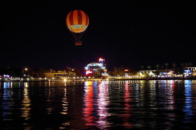 Downtown Disney at night