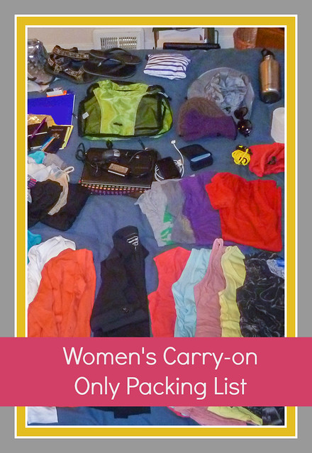 Women's Packing List for Carry On Travel