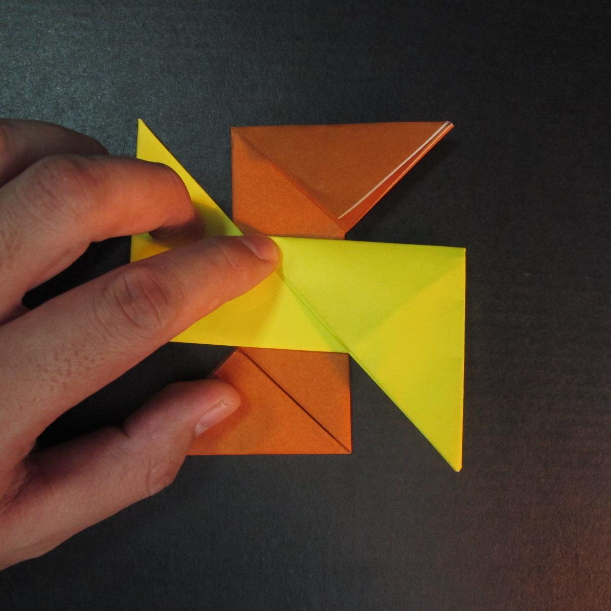 สอนวิธีพับกระดาษเป็นดาวกระจายนินจา (Shuriken Origami) - 008