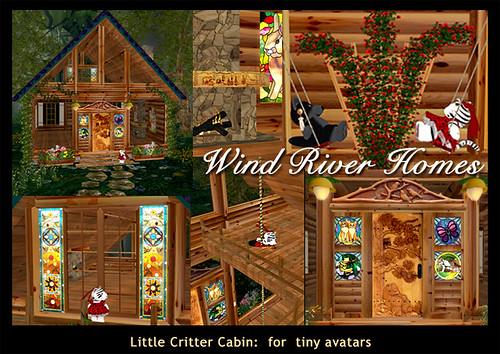 Little Critter Cabin - for tiny avatars by Teal Freenote