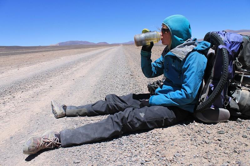 Drink break near Laguna Brava