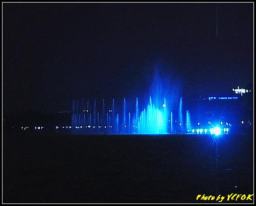 杭州 西湖 (其他景點) - 331 (在西湖十景之 柳浪聞鶯 (近古湧金門) 看西湖湖濱路及西湖畔夜景 音樂噴泉)