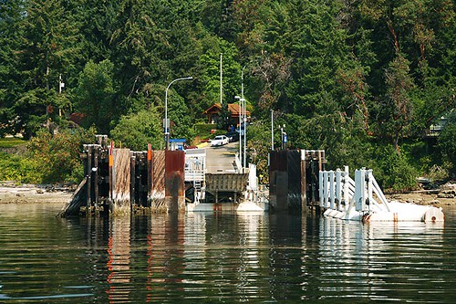 Ferry Terminal at Thetis Island, Gulf Islands, Georgia Strait, British Columbia, Canada