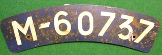 NETHERLANDS c.1942---MOTORCYCLE LICENSE PLATE