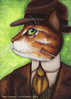 Nick Carraway Cat Portrait