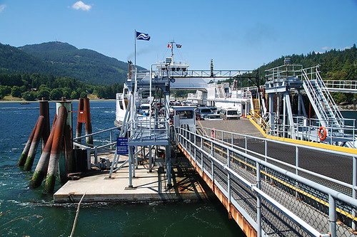 Fulford Harbour Ferry Terminal, Fulford Harbour, Saltspring Island, Gulf Islands, British Columbia, Canada