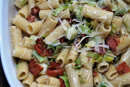 WPIR - pasta with leeks and bacon-001