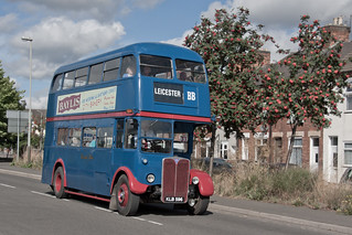 Browns Blue (ex London Transport RT1347) AEC Regent 3RT/Weymann H20/26R KLB596 on Corporation Road, Leicester