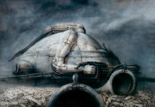 H・R・ギーガーによる悪役・ハルコンネン男爵の城デザイン画