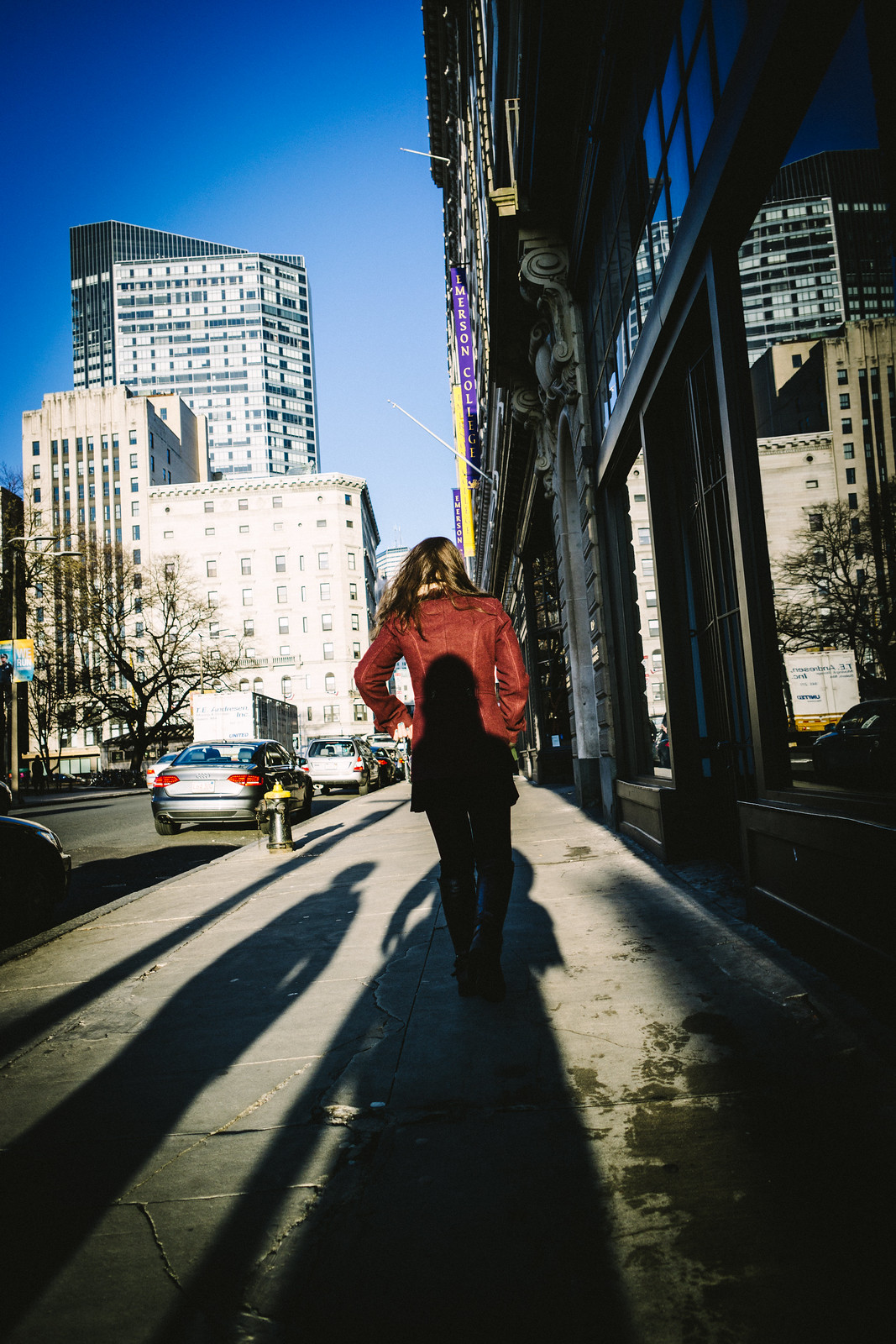 Street Walking in Shadows