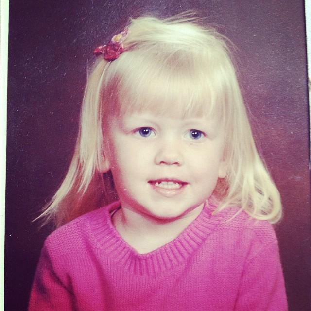 Rocking the bangs & the pink sweaters & the flyaway hair way back in...86? I think I'm 4ish. #tbt