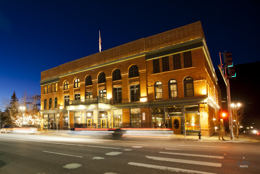 Hotel Jerome at night