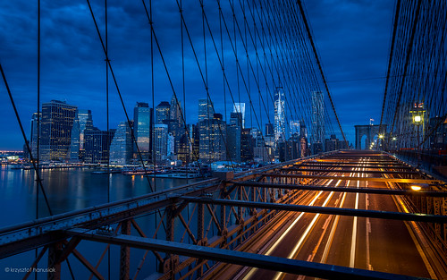 road street city nyc newyorkcity longexposure bridge newyork water brooklyn night sunrise landscape bay pier twilight downtown cityscape unitedstates manhattan nighttime brooklynbridge bluehour bigapple hanusiak