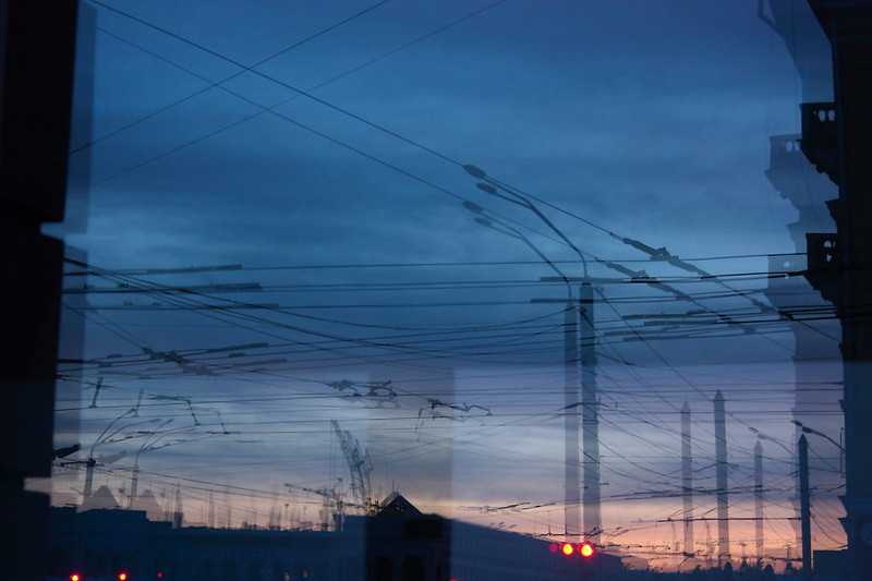 lampposts and wires