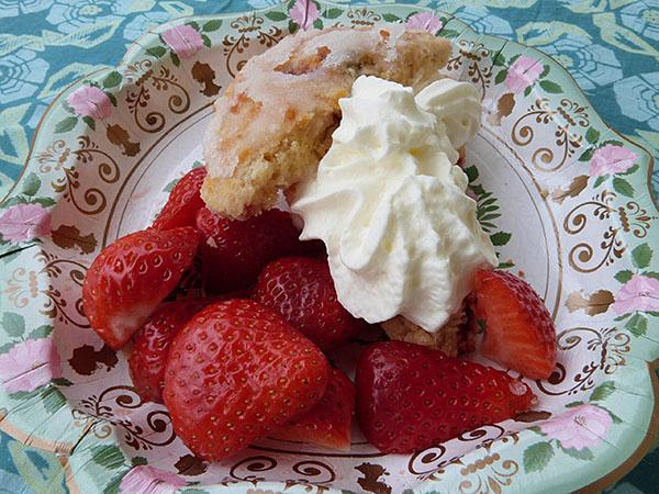scone fraise et basilic
