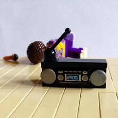 Roller Disco 'Dudette' & Boombox Radio