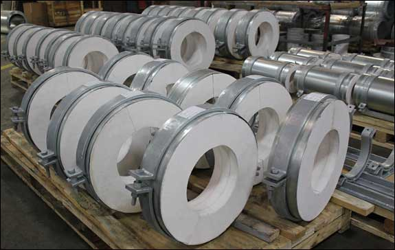 PT&P/Pipe Shields, Inc. Manufactured Insulated Pipe Supports for a Pipeline in Tennessee
