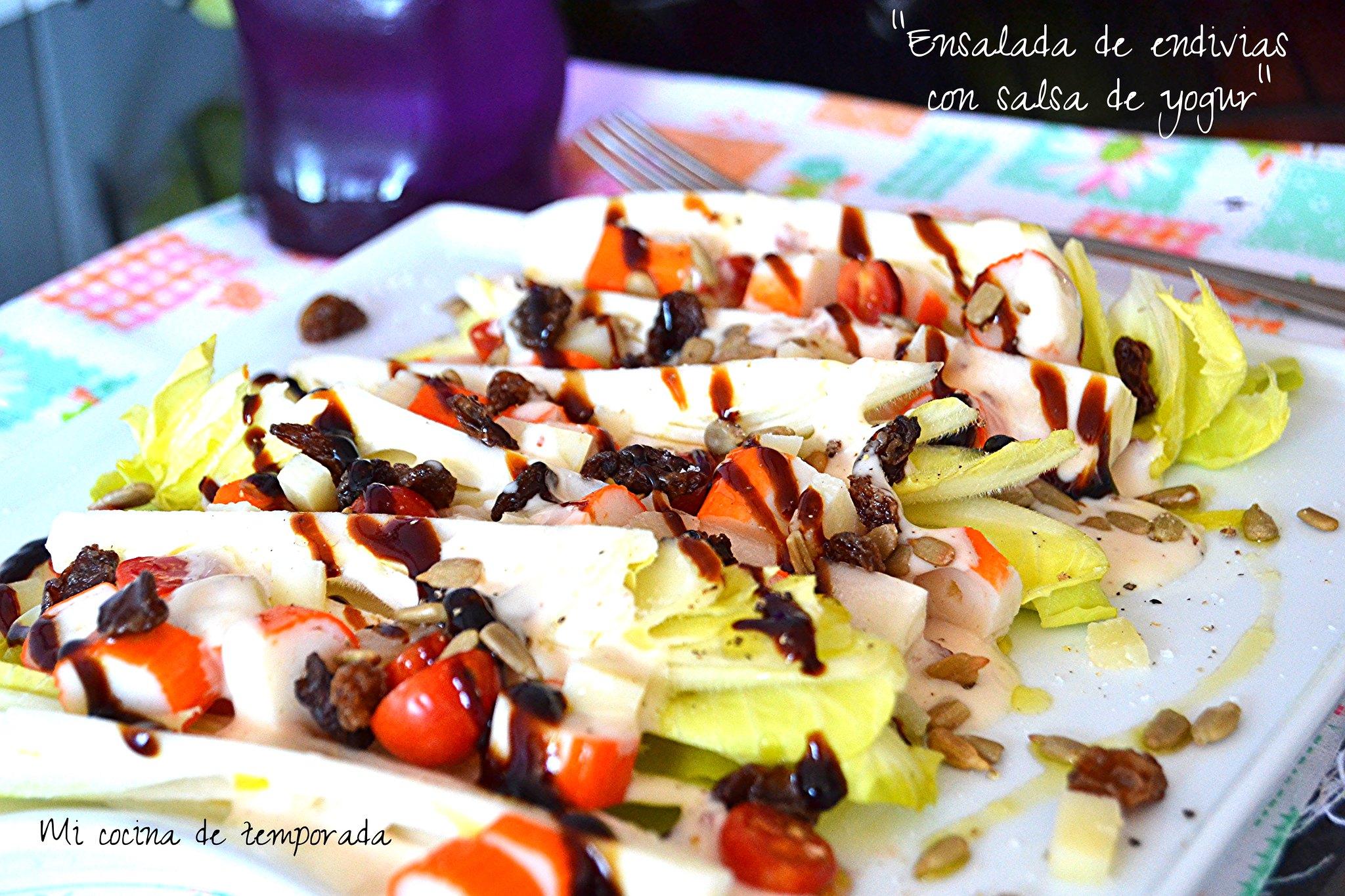 Ensalada De Endivias Con Salsa De Yogur Mi Cocina De Temporada