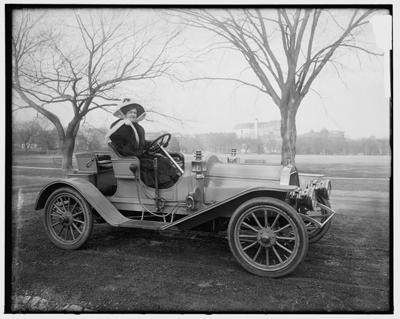 Ruth Maycliffe in her 1908 Maryland Roadster