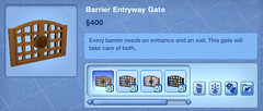 Barrier Entryway Gate