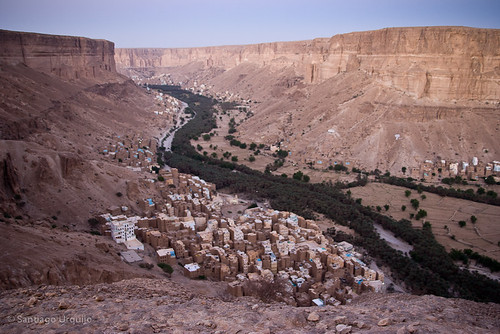 Wadi Hadramaut at evening