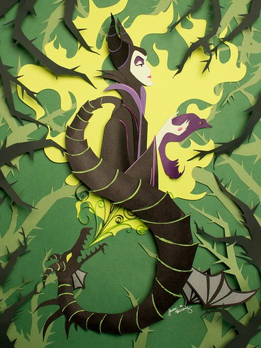 maleficent-paper-cutting