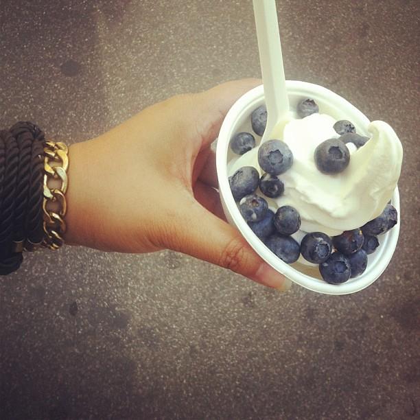froyo blueberries