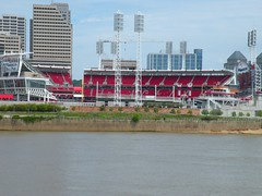 A view of Great American Ballpark from New Port, Kentucky