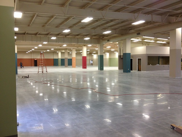 Polished Concrete At The Virginia Furniture Market Express