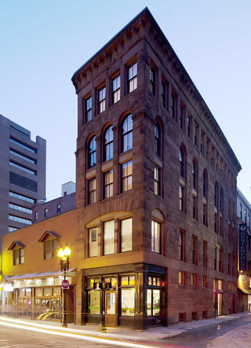 JW-Hart posted a photo:exterior restoration of Hayden Building brownstone by CUBE design + research. National Landmark 1875 by Henry Hobson Richardson. www.CUBEdesignResearch.com, copyright.