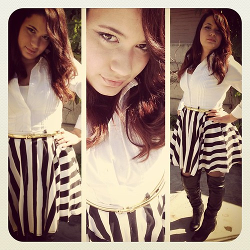 OOTD - Black, White dash of gold www.therabbitandtherobin.co.za {follow me @robindeel on Instagram} Official @rabbitandrobin