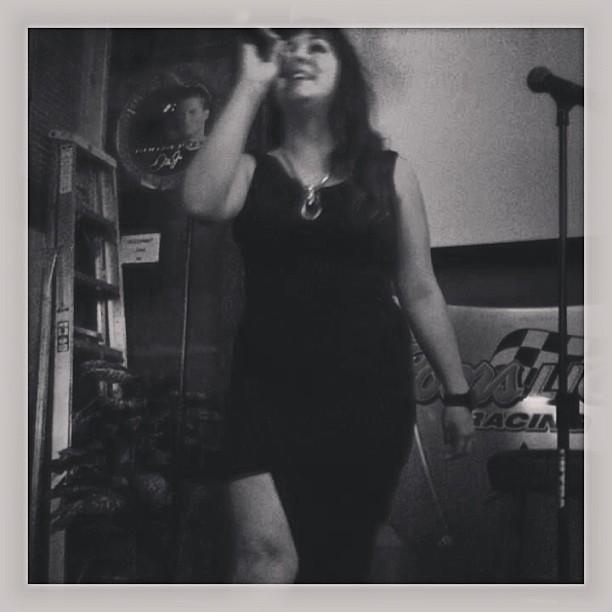 Karaoke or lounge singer? I'll never tell.  via @angelabcd #stagepresence #karaokefriday #karaoke #tgif