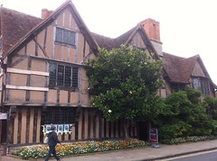 Photo of Hall's Croft, John Hall, and Susanna Hall blue plaque