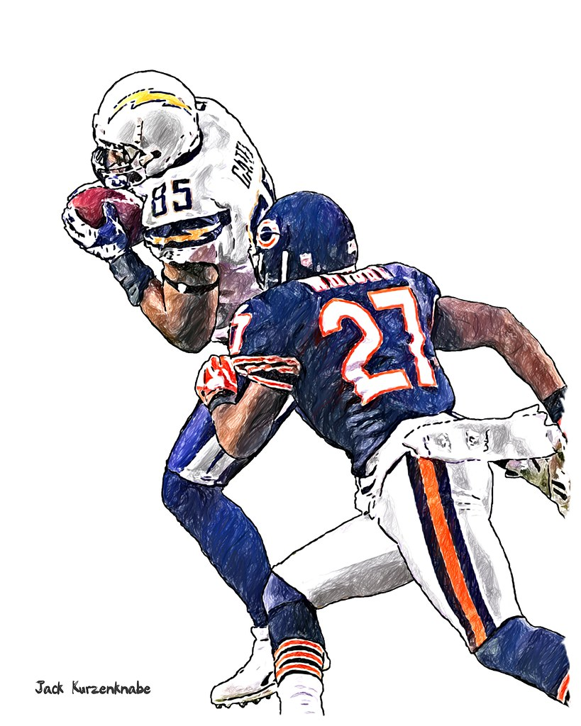 0 San Diego Chargers Antonio Gates Chicago Bears Major