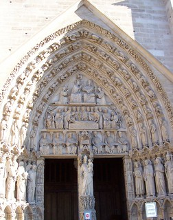 notre dame door on left