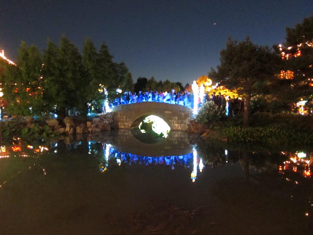 Montreal botanical gardens. Chinese lantern festival. Millions of people.