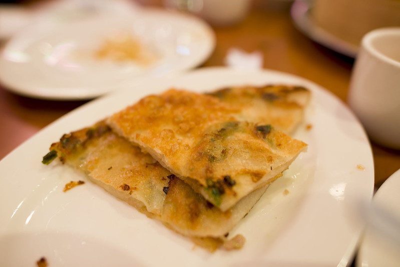 Scallion pancakes - Joe's Shanghai, cheap eats NYC