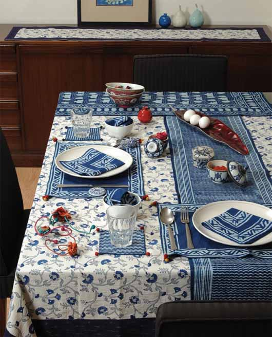 Table setting in Indigo