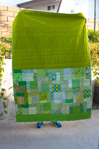 Nine patch quilt back