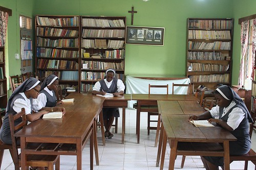 Novices in class at the Novitiate in Akure, Nigeria
